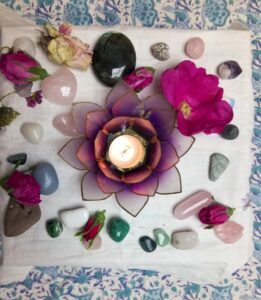 Sacred space altar close up